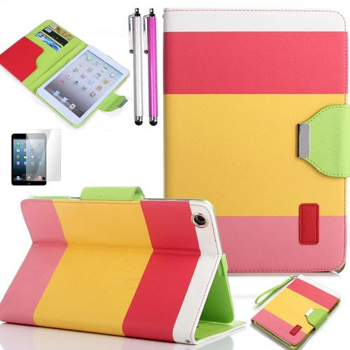 iPad case and accessories in summer sorbet colors