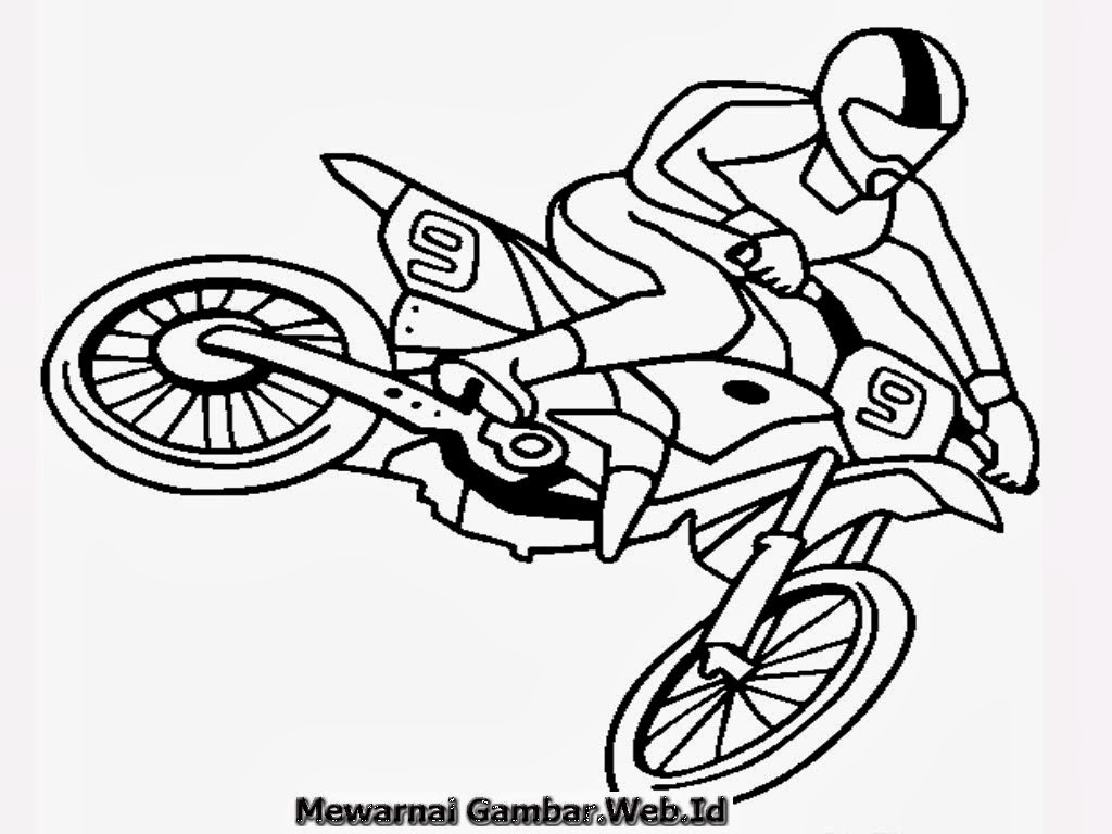 Download Ide 92 Gambar Motor Untuk Diwarnai Terupdate Nara Motor