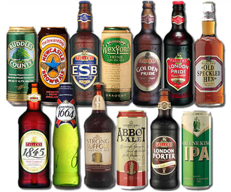 Foto com tipos de cervejas