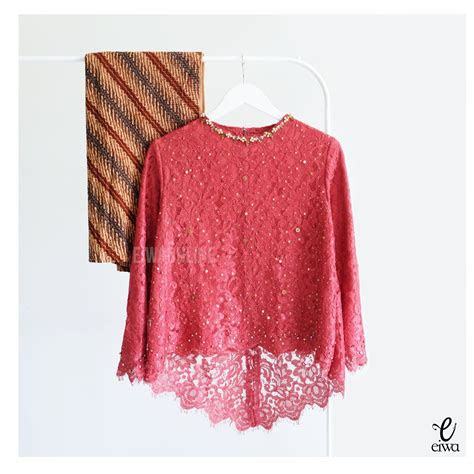 kebaya indonesia modern high    lace brokat long