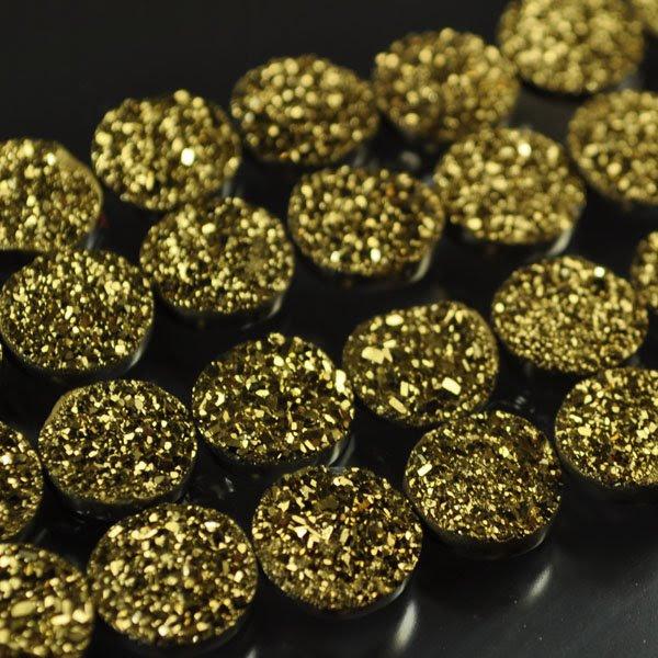 s33895 Stone - 9.5 x 11 mm Drusy Cabochon - Hi Karati (1)