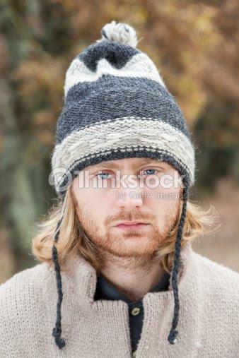 Porträt Mann Von Vierundzwanzig Alter Blonden Haaren Und Blauen