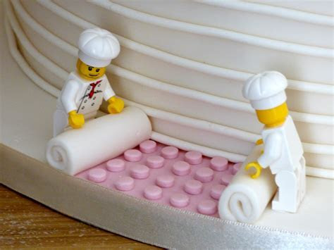4 Tier Ivory Wedding Cake With Lego Figures « Susie's Cakes