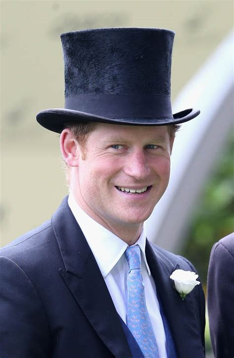 Prince Harry in a top hat at Day 1 of Royal Ascot with the
