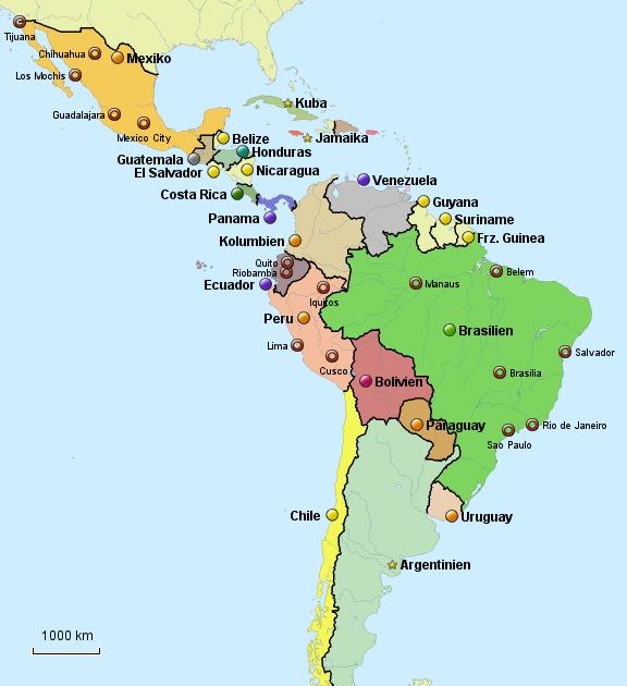 Lateinamerika Karte Gebirge.25 Bilder Lateinamerika Landkarte