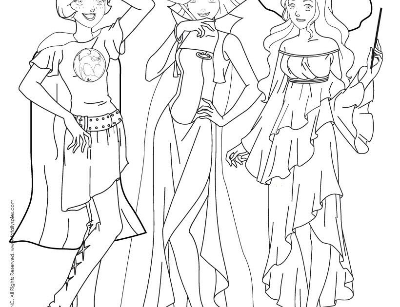 Coloriage Totally Spies   Coloriage