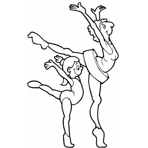 Disegno Di Ballerine Danza Classica Da Colorare Per Bambini