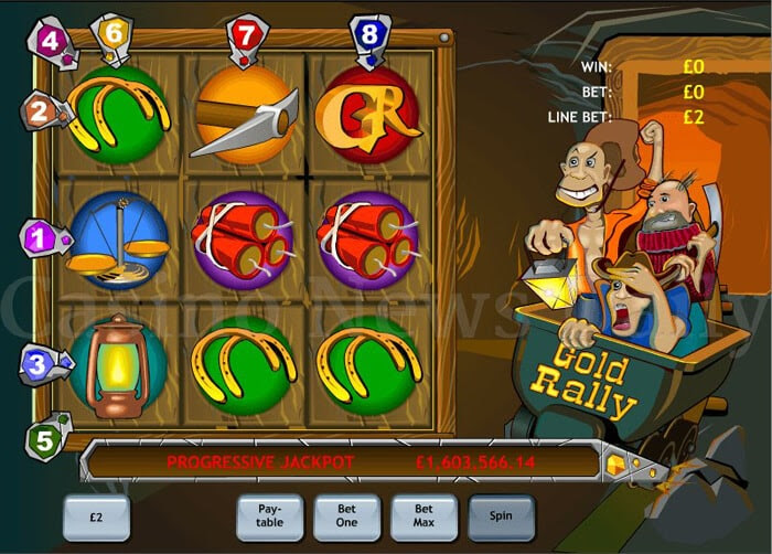 Upgrade online go mining for progressive jackpots in gold rally slots movies