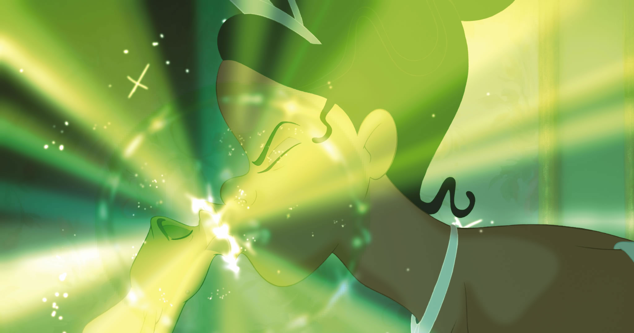 Tiana And Naveen Kiss In Disney S Princess And The Frog Desktop