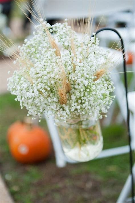30 Fall Rustic Country Wheat Wedding Decor Ideas   Deer