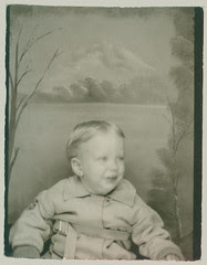 Photobooth baby in coat