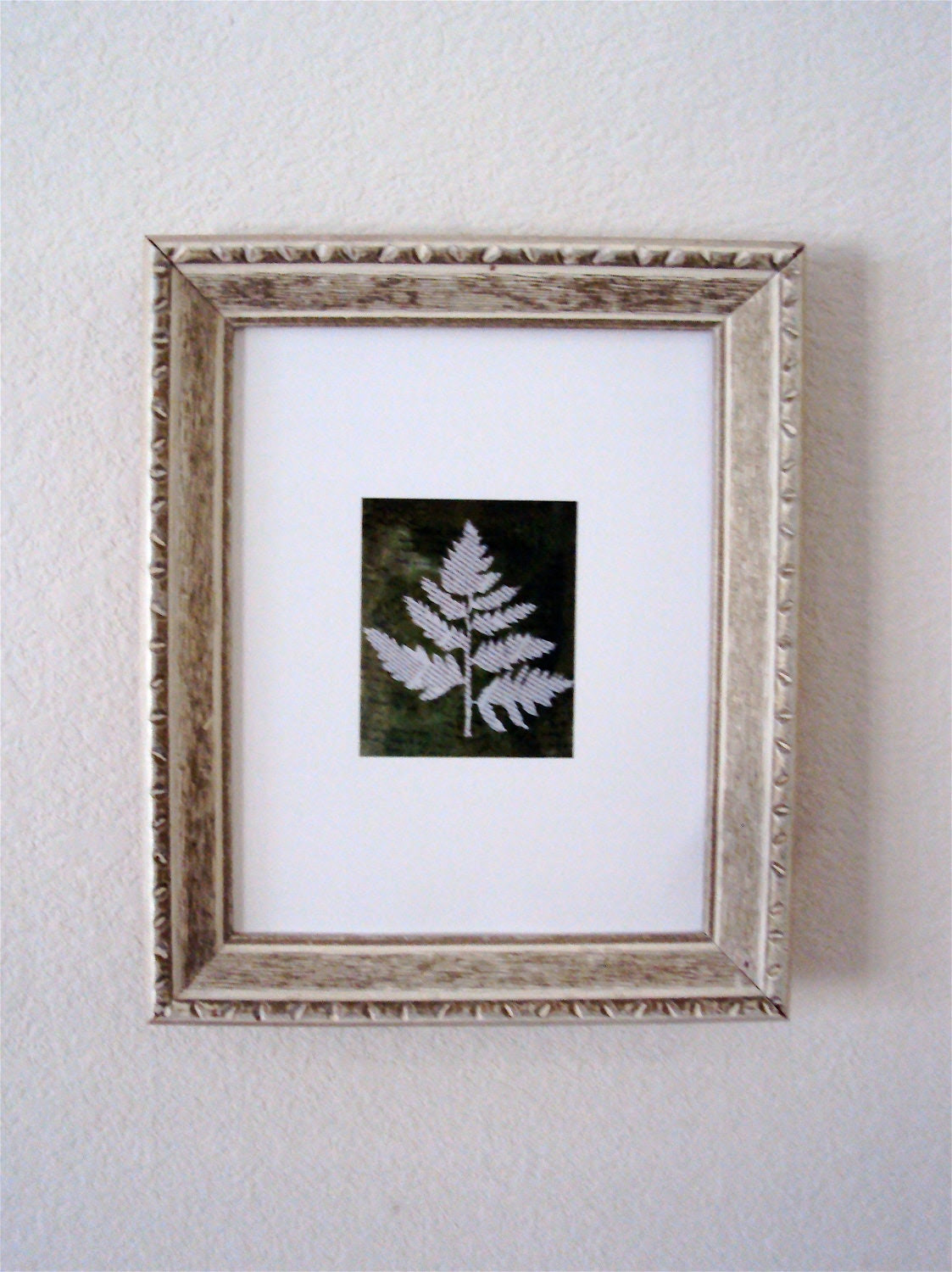 Framed Newspaper Leaf Print Framed Art by ElizabethanFolkArt