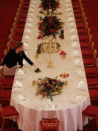 Place settings are actually measured with a ruler. Picture: Photo by Peter Macdiarmid/Get