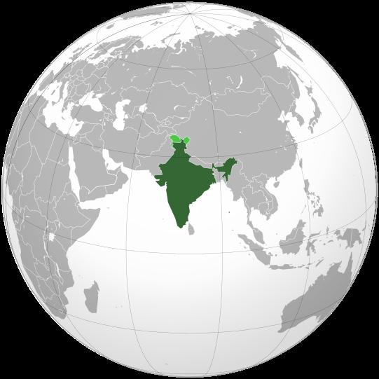 ファイル:India (orthographic projection).svg