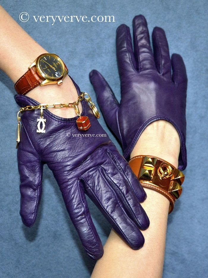 veryverve: Trendy Sermoneta gloves to show off your jewelry.