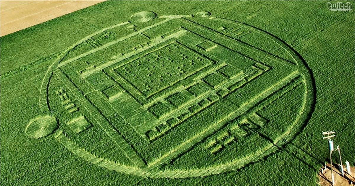 NVIDIA created crop circle to promote its Tegra K1 processor