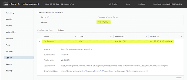 Use vSphere Lifecycle Manager (vLCM) for ESXi 7.0 Update 2a Upgrade