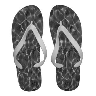 Light Reflections On Water: Black & White Sandals