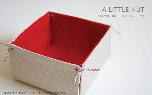 recycling project - cutting mat bin