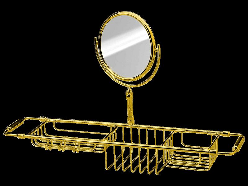 Pont De Baignoire Extensible Miroir Grossissant Elyseum Gold Haccess Haccess