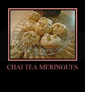 Chai tea meringues
