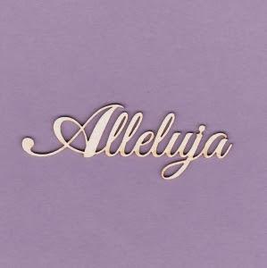 204 Tekturka napis - Alleluja - 2 sztuki - G3