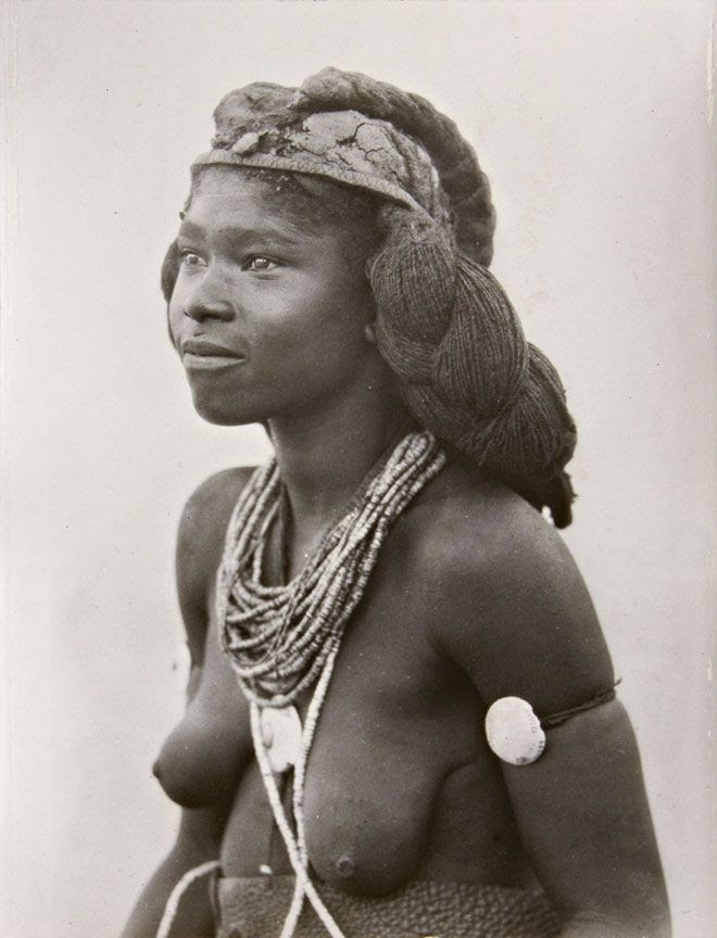 Africa | Ombolantu woman, South West Africa (now Namibia).  1936 | ©A.M Duggan-Cronin