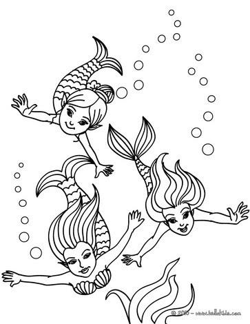 ausmalbilder meerjungfrau mako