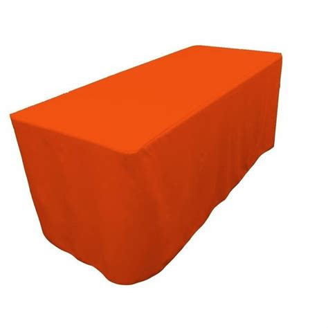ft fitted polyester tablecloth trade show booth party