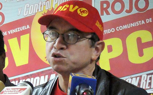 Pedro Eusse, miembro del Buró Político del Partido Comunista de Venezuela (PCV)