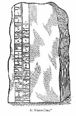 Ricostruzione pietra di Galteland (immagine dal sito http://www.runsten.info/)