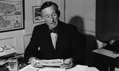 Ian Fleming in his Study