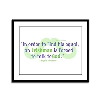 God's Irishman Framed Panel Print