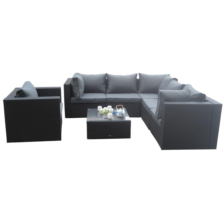 Polyrattan Lounge M bel Urlaubsflair f r Ihren Garten Rattan Lounge Sets sind erste Wahl Rattan sitzgruppe garten