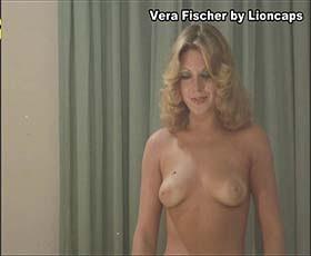 Vera Fischer nua no filme brasileiro de 1973 Anjo Loiro
