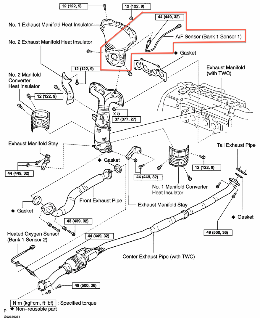 Toyota Rav4 Exhaust System Diagram - Free Wiring Diagram