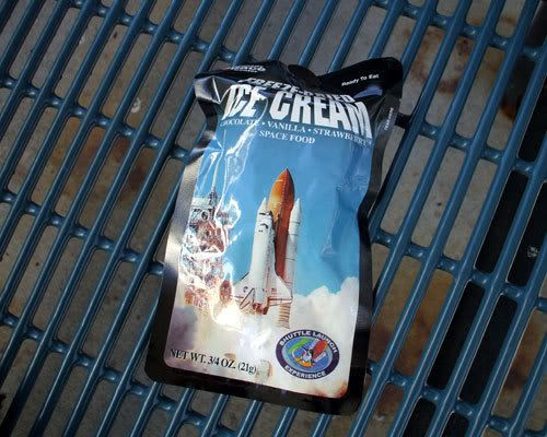 Astronaut ice cream.  Yum.