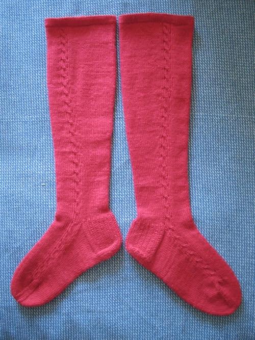 red knee sock