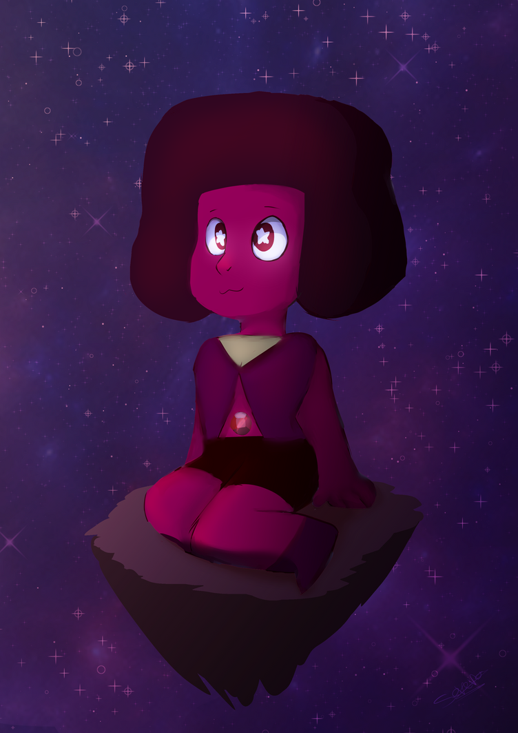 the little ruby from steven universe :3 art by me caracter by steven universe crew