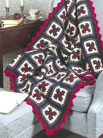 Free Crochet Pattern Of The Day Christmas Granny Afghan