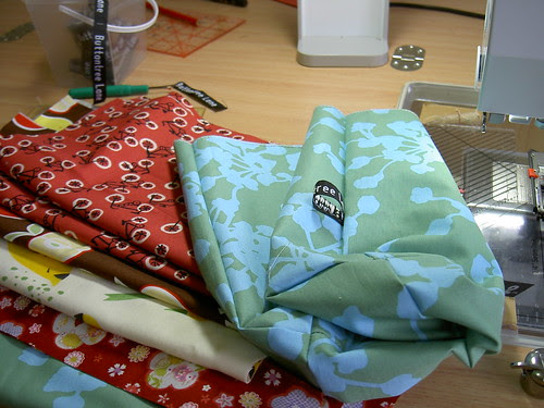 Project bags waiting for the sew