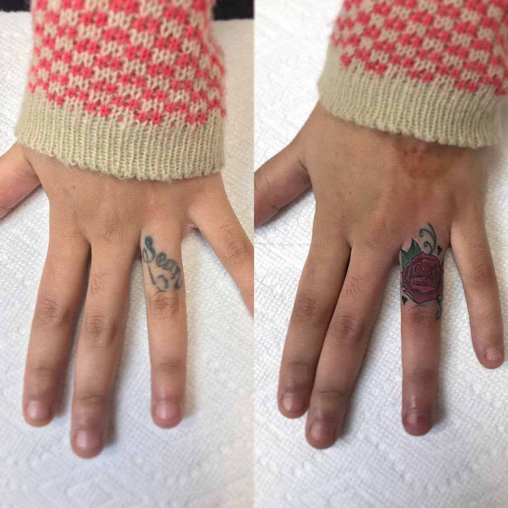 Finger Cover Up Tattoo Rose Best Tattoo Ideas Gallery