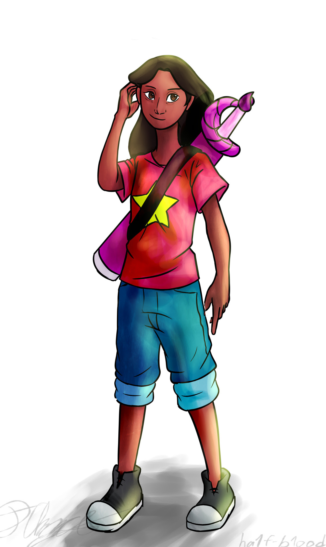 Connie wearing Steven's shirt is one of my favourite things now. This was a quick thing, I know it'd be baggier, but oh well XP
