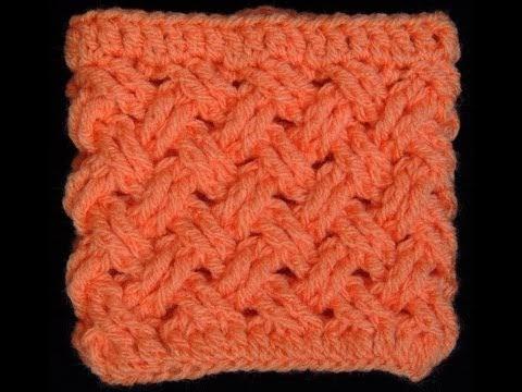 Ponto Cruz Simples  que se parece com o tecido de uma cesta.