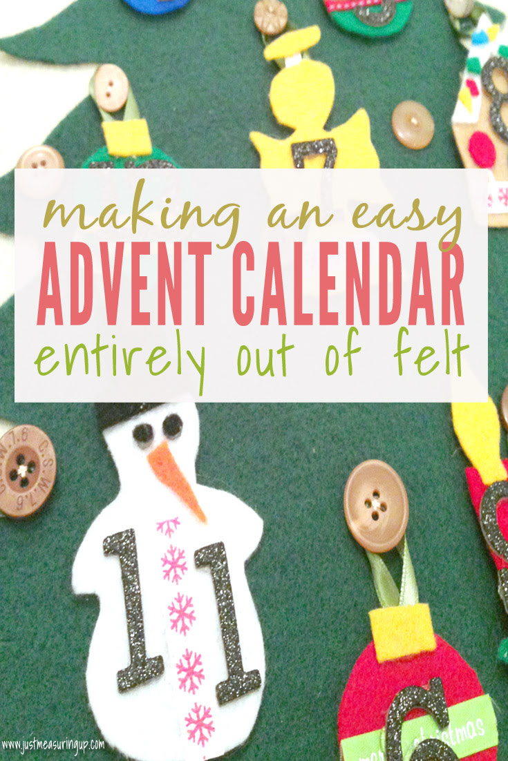 Felt Advent Calendar by Just Measuring Up