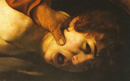 Caravaggio, Sacrificio di Isacco (Die Opferung Isaaks/Sacrifice of Isaac), Detail, Galleria degli Uffizi, Firenze