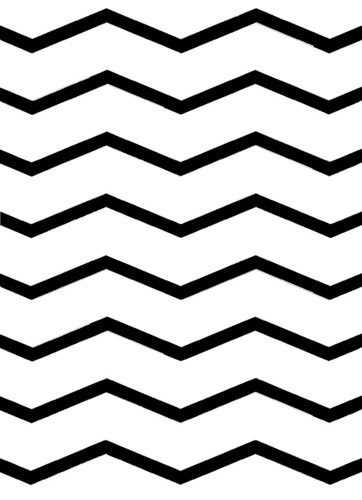OVERLAY stretch chevron WHITE sized for A2 card