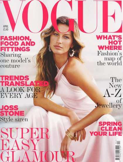 Vogue - Gisele Bundchen - April, 2005