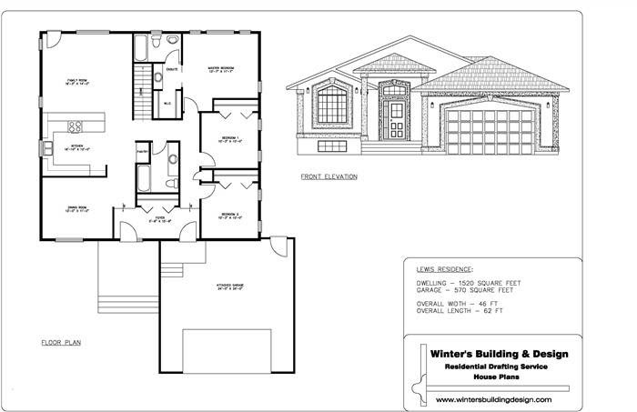 Sample Drawing Set Complete Package House Designs  House