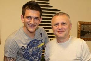 Горан Попов вместе с президентом Динамо Игорем Суркисом